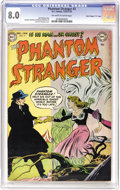 "Golden Age (1938-1955):Horror, Phantom Stranger #3 Davis Crippen (""D"" Copy) pedigree (DC, 1953)CGC VF 8.0 Off-white to white pages. His name? Unknown. His..."