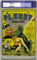 Golden Age (1938-1955):Science Fiction, Planet Comics #20 (Fiction House, 1942) CGC VF/NM 9.0 Off-whitepages. Attributing Fiction House covers can be a tricky busi...