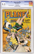 "Golden Age (1938-1955):Science Fiction, Planet Comics #32 Davis Crippen (""D"" Copy) pedigree (Fiction House,1944) CGC VF+ 8.5 Off-white pages. Scintillating cover a..."