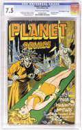 """Golden Age (1938-1955):Science Fiction, Planet Comics #41 Davis Crippen (""""D"""" Copy) pedigree (Fiction House,1946) CGC VF- 7.5 Cream to off-white pages. There are so..."""