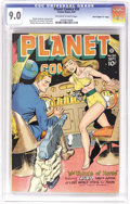 "Golden Age (1938-1955):Science Fiction, Planet Comics #50 Davis Crippen (""D"" Copy) pedigree (Fiction House,1947) CGC VF/NM 9.0 Off-white to white pages. An expanse..."