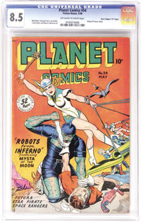 "Planet Comics #54 Davis Crippen (""D"" Copy) pedigree (Fiction House, 1948) CGC VF+ 8.5 Off-white to white pages..."
