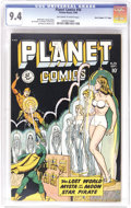 "Golden Age (1938-1955):Science Fiction, Planet Comics #56 Davis Crippen (""D"" Copy) pedigree (Fiction House,1948) CGC NM 9.4 Off-white to white pages. When you've g..."