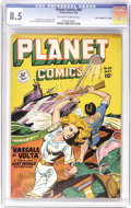 "Golden Age (1938-1955):Science Fiction, Planet Comics #60 Davis Crippen (""D"" Copy) pedigree (Fiction House,1949) CGC VF+ 8.5 Off-white pages. Lovely ladies took ce..."
