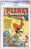 "Golden Age (1938-1955):Science Fiction, Planet Comics #62 Davis Crippen (""D"" Copy) pedigree (Fiction House,1949) CGC VF+ 8.5 Off-white pages. ""Aztran, Voltan Supre..."