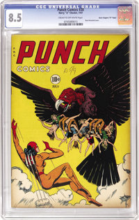 "Punch Comics #20 Davis Crippen (""D"" Copy) pedigree (Chesler, 1947) CGC VF+ 8.5 Cream to off-white pages. This..."