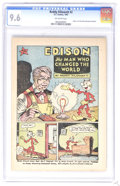 """Golden Age (1938-1955):Miscellaneous, Reddy Kilowatt #2 (EC, 1947) CGC NM+ 9.6 Off-white pages. """"Edison, The Man Who Changed The World."""" 5-cent cover price. Overs..."""