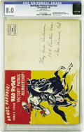 Golden Age (1938-1955):Western, Red Ryder Victory Patrol Kit 1944 (Dell, 1944) CGC VF 8.0 Off-whiteto white pages. This tough to find promotional item, ori...