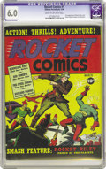 Golden Age (1938-1955):Superhero, Rocket Comics #1 (Hillman Publications, 1940) CGC FN 6.0 Cream to off-white pages. This was Hillman's second series, close o...