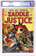 Golden Age (1938-1955):Western, Saddle Justice #7 (EC, 1949) CGC VF/NM 9.0 Cream to off-white pages. This copy's tied for the highest grade yet assigned to ...