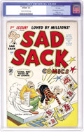 Golden Age (1938-1955):Cartoon Character, Sad Sack Comics #1 File Copy (Harvey, 1949) CGC VF/NM 9.0 Cream tooff-white pages. The first appearance of Little Dot overs...