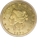 California Fractional Gold, 1870 $1 Liberty Round 1 Dollar, BG-1203, Low R.5, XF45 PCGS....
