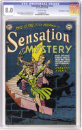 "Golden Age (1938-1955):Horror, Sensation Mystery #115 Davis Crippen (""D"" Copy) pedigree (DC, 1953)CGC VF 8.0 Off-white pages. Copies of this title are rel..."