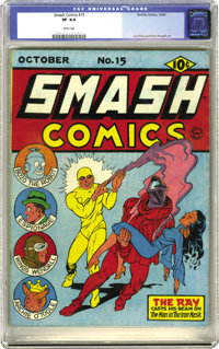 Smash Comics #15 (Quality, 1940) CGC VF 8.0 White pages. With names like Lou Fine and Bob Powell involved, how can you g...