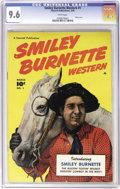 Golden Age (1938-1955):Western, Smiley Burnette Western #1 (Fawcett, 1950) CGC NM+ 9.6 White pages.Smiley Burnette was a singin' cowboy just like his pal G...