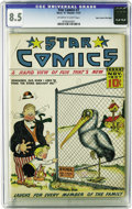 Platinum Age (1897-1937):Miscellaneous, Star Comics #7 Mile High pedigree (Centaur, 1937) CGC VF+ 8.5Off-white to white pages. This Edgar Church copy is the one an...