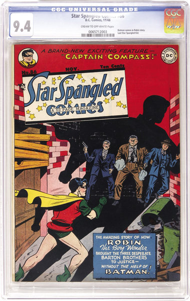 Star Spangled Comics 86 Dc 1948 Cgc Nm 94 Cream To Lot 2249