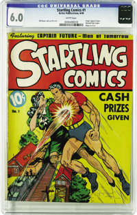 Startling Comics #1 (Better Publications, 1940) CGC FN 6.0 White pages. This Golden Age first issue features no fewer th...