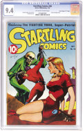 """Golden Age (1938-1955):Science Fiction, Startling Comics #46 Davis Crippen (""""D"""" Copy) pedigree (BetterPublications, 1947) CGC NM 9.4 Off-white to white pages. Only..."""