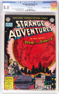 """Golden Age (1938-1955):Science Fiction, Strange Adventures #2 Davis Crippen (""""D"""" Copy) pedigree (DC, 1950) CGC VF 8.0 White pages. An end-of-the-world cover usually..."""