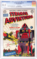"Golden Age (1938-1955):Science Fiction, Strange Adventures #3 Davis Crippen (""D"" Copy) pedigree (DC, 1950)CGC VF+ 8.5 Off-white pages. Outer-space explorer Chris K..."