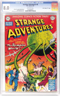 "Golden Age (1938-1955):Science Fiction, Strange Adventures #6 Davis Crippen (""D"" Copy) pedigree (DC, 1951)CGC VF 8.0 Off-white pages. Just a half-grade off the hig..."