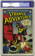 Golden Age (1938-1955):Science Fiction, Strange Adventures #16 (DC, 1952) CGC NM- 9.2 Off-white pages. Everwonder what was behind those huge stone heads found on E...