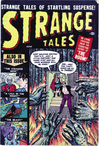 """Strange Tales #1 Davis Crippen (""""D"""" Copy) pedigree (Marvel, 1951) Condition: FN-. Although it would later beco..."""
