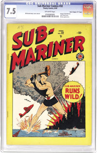"""Sub-Mariner Comics #32 Davis Crippen (""""D"""" Copy) pedigree (Timely, 1949) CGC VF- 7.5 Off-white pages. This book..."""