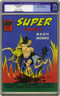 Super Comics #22 Mile High pedigree (Dell, 1940) CGC NM 9.4 Off-white to white pages. This Edgar Church gem is the fines...