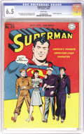 Golden Age (1938-1955):Superhero, Superman #29 (DC, 1944) CGC FN+ 6.5 White pages. Lois Lane makes a cover appearance, spotlighting the Army, Navy, and Marine...
