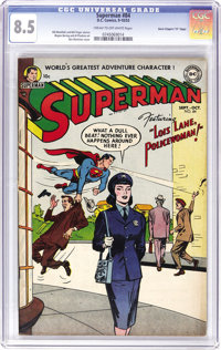 "Superman #84 Davis Crippen (""D""Copy) pedigree (DC, 1953) CGC VF+ 8.5 Cream to off-white pages. This book's fro..."