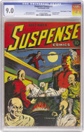 "Golden Age (1938-1955):Horror, Suspense Comics #1 Davis Crippen (""D"" Copy) pedigree (ContinentalMagazines, 1943) CGC VF/NM 9.0 Cream to off-white pages. T..."