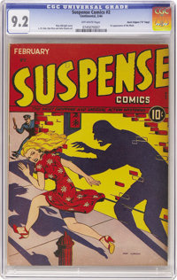 "Suspense Comics #2 Davis Crippen (""D"" Copy) pedigree (Continental Magazines, 1944) CGC NM- 9.2 Off-white pages..."
