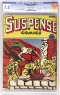 "Golden Age (1938-1955):Horror, Suspense Comics #4 Davis Crippen (""D"" Copy) pedigree (ContinentalMagazines, 1944) CGC VF- 7.5 Off-white pages. Keep your he..."