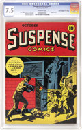 "Golden Age (1938-1955):Horror, Suspense Comics #6 Davis Crippen (""D"" Copy) pedigree (ContinentalMagazines, 1944) CGC VF- 7.5 Off-white pages. The masterfu..."