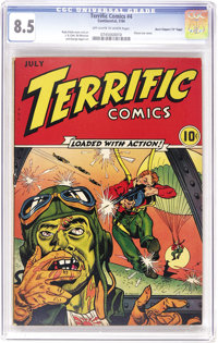 "Terrific Comics #4 Davis Crippen ('D"" Copy) pedigree (Continental Magazines, 1944) CGC VF+ 8.5 Off-white to white p..."