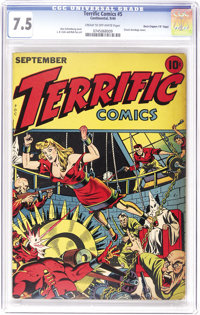 "Terrific Comics #5 Davis Crippen (""D"" Copy) pedigree (Continental Magazines, 1944) CGC VF- 7.5 Cream to off-wh..."