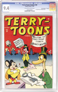 "Golden Age (1938-1955):Funny Animal, Terry-Toons Comics #38 Davis Crippen (""D"" Copy) pedigree (Timely,1945) CGC NM 9.4 Off-white to white pages. The first comic..."