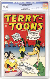 "Terry-Toons Comics #38 Davis Crippen (""D"" Copy) pedigree (Timely, 1945) CGC NM 9.4 Off-white to white pages. T..."