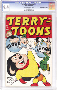 "Terry-Toons Comics #56 Davis Crippen (""D"" Copy) pedigree (Timely, 1947) CGC NM 9.4 Off-white to white pages. G..."