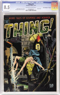 """Golden Age (1938-1955):Horror, The Thing! #9 Davis Crippen (""""D"""" Copy) pedigree (Charlton, 1953)CGC VF+ 8.5 Off-white to white pages. From the days when Ch..."""