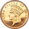 Proof Three Dollar Gold Pieces, 1886 $3 PR65 Deep Cameo PCGS. CAC....