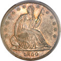 Seated Half Dollars, 1860-O 50C MS66 PCGS. WB-102....