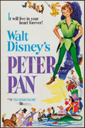 "Movie Posters:Animation, Peter Pan (Buena Vista, R-1976 & R-1969). One Sheet (27"" X 41"")& Lobby Cards (7) (11"" X 14""). Animation.. ... (Total: 8 Items)"