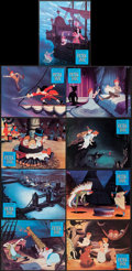 """Movie Posters:Animation, Peter Pan (Buena Vista, R-1970s). French Lobby Cards (9) (9.5"""" X12""""), Poster (14"""" X 20.5""""), & Uncut Pressbook (Multiple Pag...(Total: 11 Items)"""