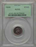 Seated Half Dimes: , 1844 H10C AU55 PCGS. PCGS Population (12/125). NGC Census: (3/143).Mintage: 430,000. Numismedia Wsl. Price for problem fre...