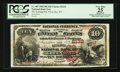National Bank Notes:Wisconsin, Green Bay, WI - $10 1882 Brown Back Fr. 487 The Kellogg NB Ch. # 2132. ...