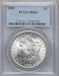 Morgan Dollars: , 1885 $1 MS64 PCGS. PCGS Population (24011/9352). NGC Census:(29867/11817). Mintage: 17,787,768. Numismedia Wsl. Price for ...