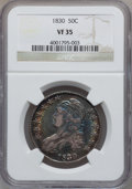 Bust Half Dollars: , 1830 50C Small 0 VF35 NGC. NGC Census: (54/1592). PCGS Population(89/1403). Mintage: 4,764,800. Numismedia Wsl. Price for ...